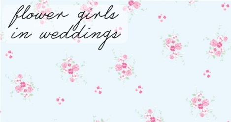 flower girls in wedding