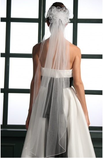 simply bridal one tier 45%22 pencil edge veil